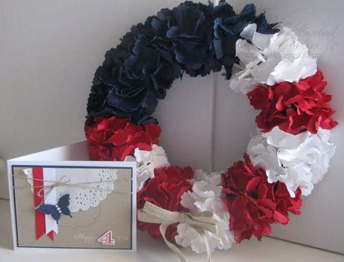 Patriotic Wreath & Card